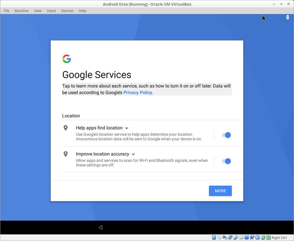 Android setup menu 6