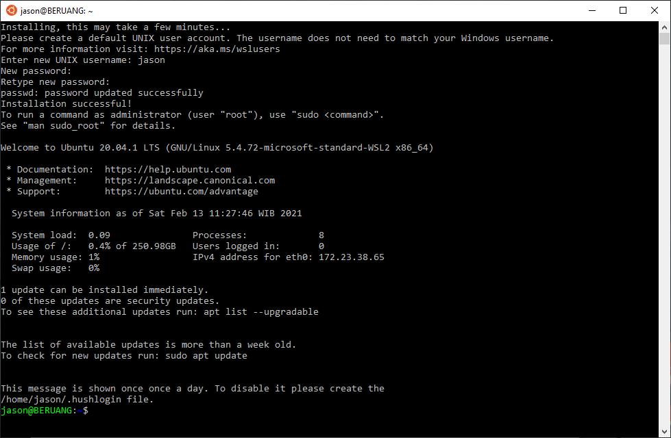 Welcome to Ubuntu 20.04