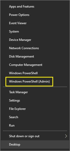 Start Windows Context Menu