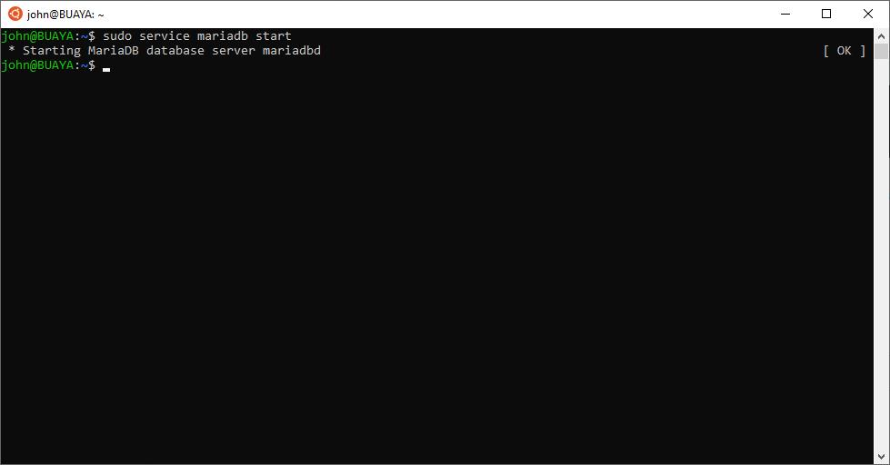 Starting MariaDB Server