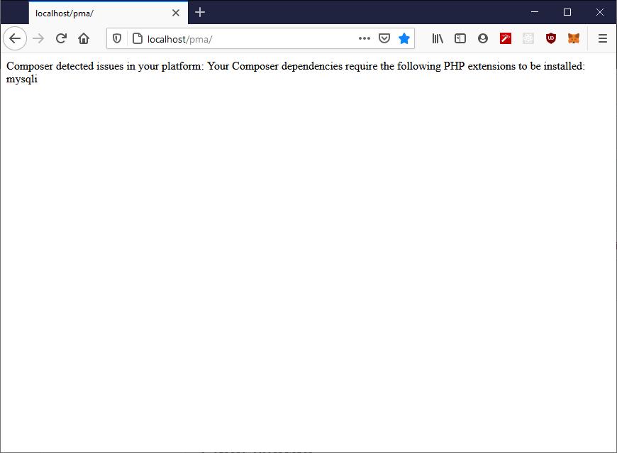 Missing PHP extension: mysqli