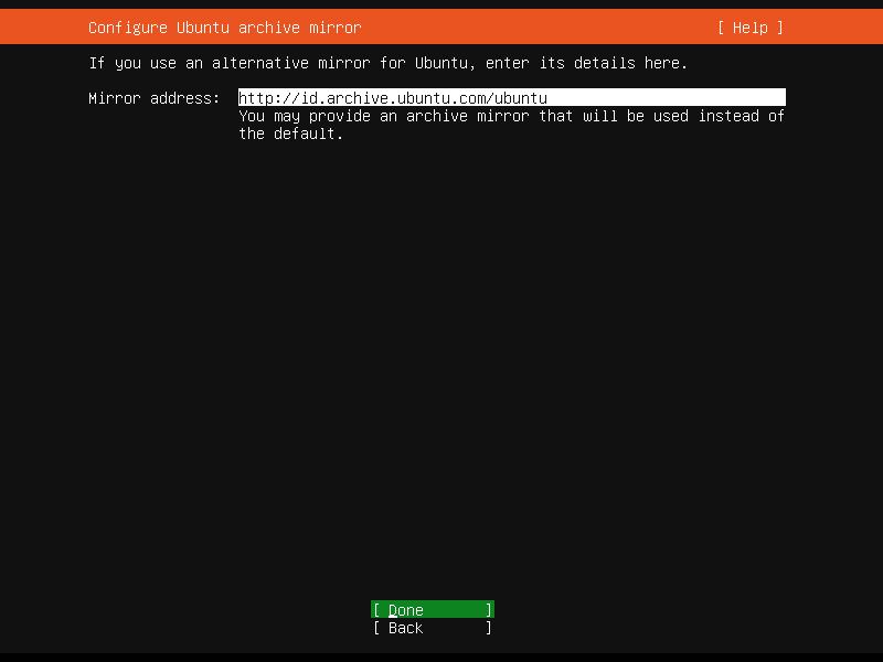 Ubuntu 20.04 mirror repository