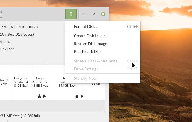 SMART Data & Self Test menu unavailable on Samsung 970 EVO Plus