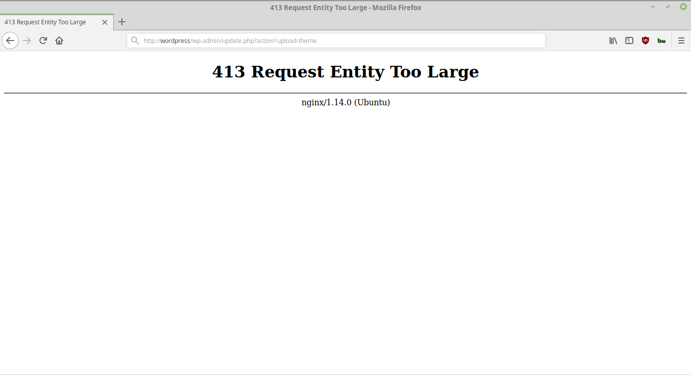 Nginx Error 413 - Request Entity Too Large