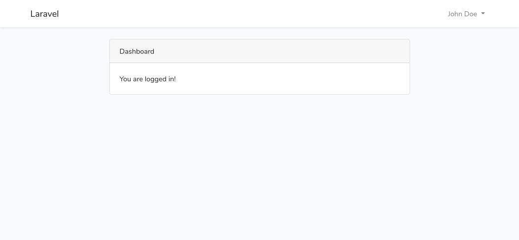 Laravel home page