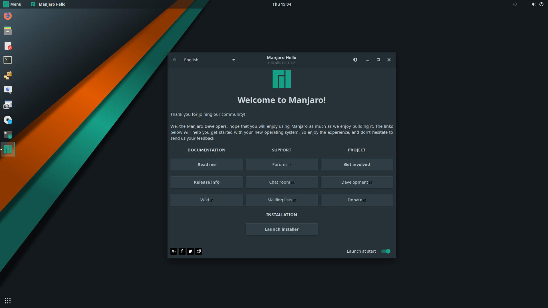 Manjaro Linux Screenshot