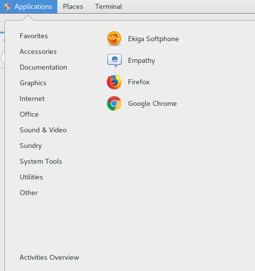Google chrome menu