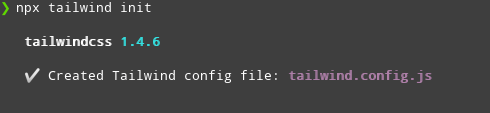Generate tailwind.config.js File